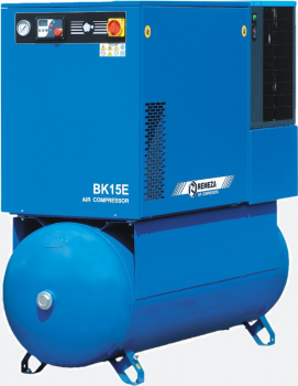 Screw compressors with belt drive